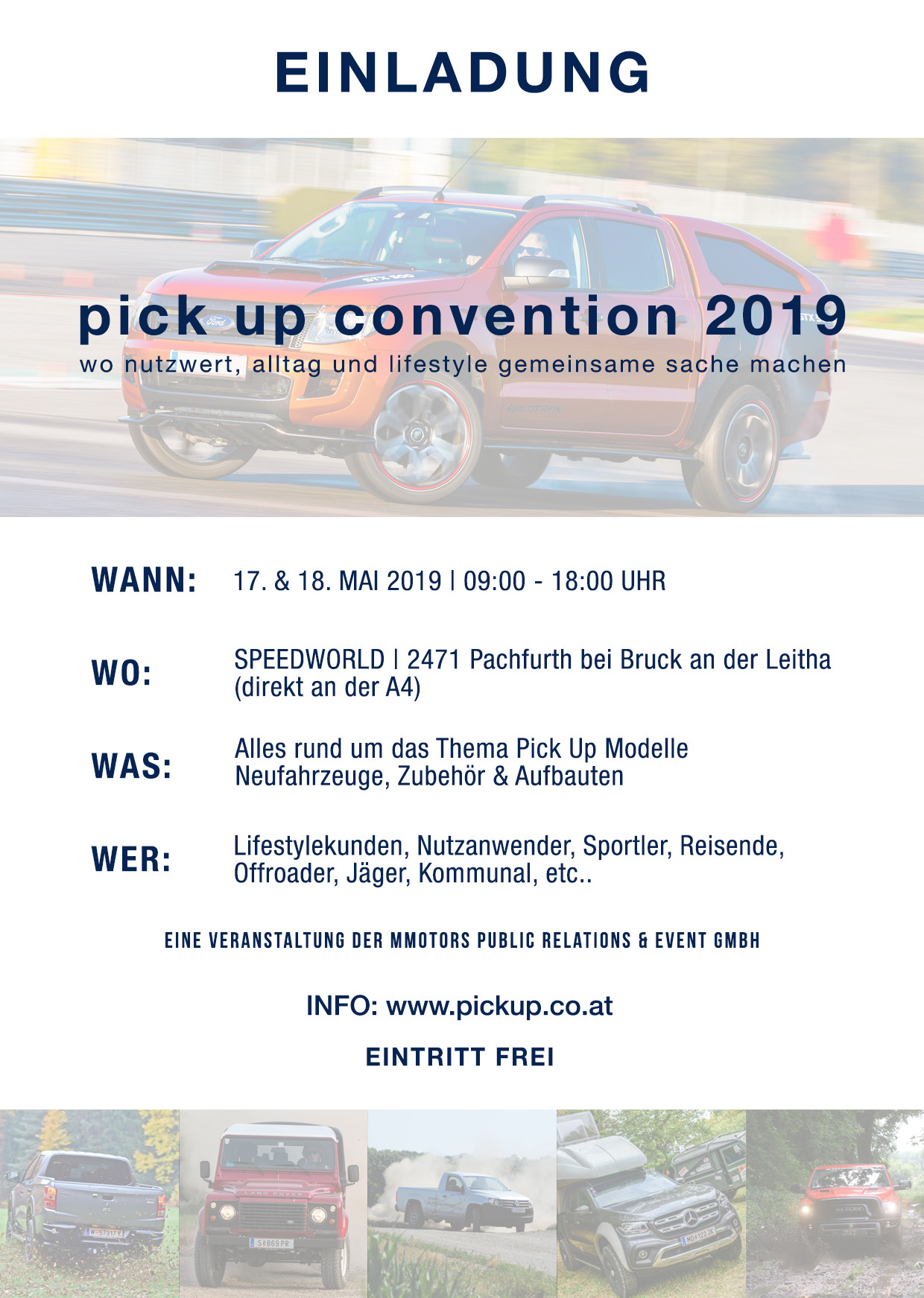 Einladungsflyer Pick up Convention 2019